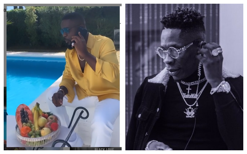 To Take Pictures Around Somebody's Swimming Pool Is A Great Feeling - Shatta Wale Shades Sarkodie